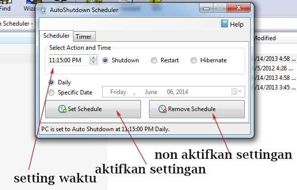 AutoShutdownScheduler Display